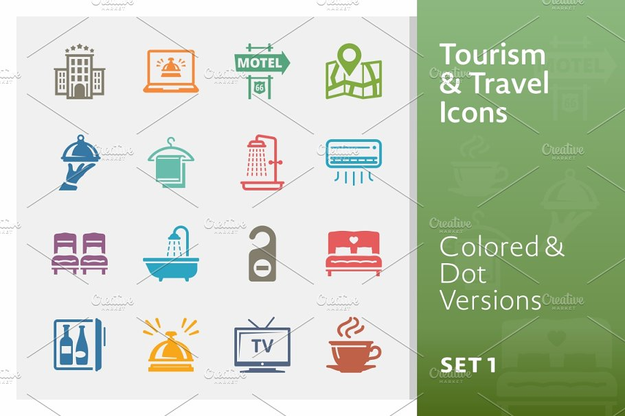 Tourism & Travel Icons 1 | Colored in Icons - product preview 8