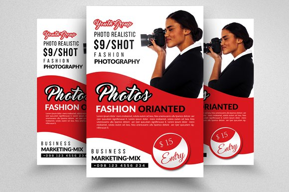 Photography Flyer Template Flyer Templates on Creative Market – Photography Flyer