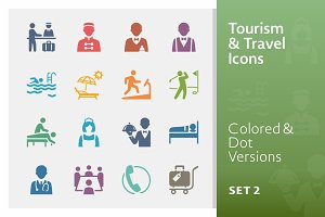Tourism & Travel Icons 2 | Colored