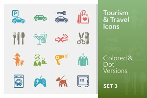 Tourism & Travel Icons 3 | Colored