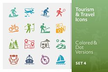 Tourism & Travel Icons 4 | Colored