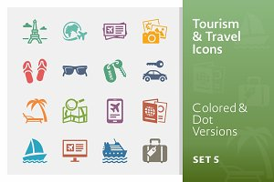 Tourism & Travel Icons 5 | Colored