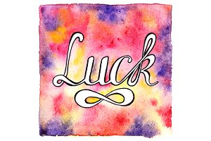 Calligraphy luck word vector