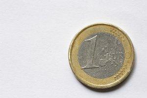 Macro of a euro