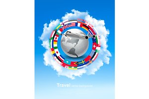 Travel Background. Vector
