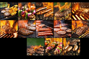 Food on the grill bundle