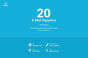 20 E-mail Signature