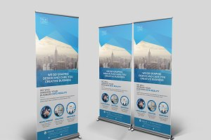 Abstract Agency Roll Up Banner
