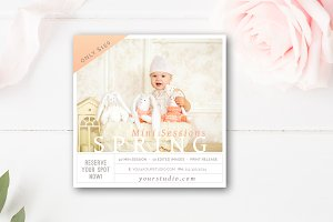 Spring Mini Session Template