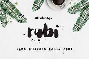 Rubi Ink Brush Font