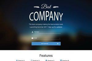 Clean, Simple, Modern Landing Page