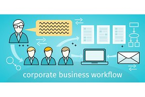 Corporate Business Workflow Banner