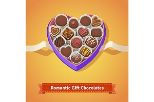 Gift chocolates in box