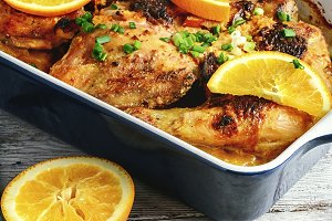 grilled chicken in orange