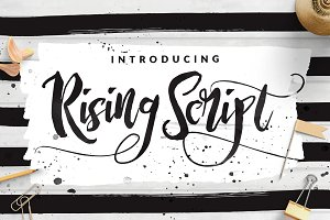 Rising Brush Script