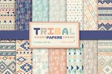 14 Tribal aztec Digital Papers Pack.