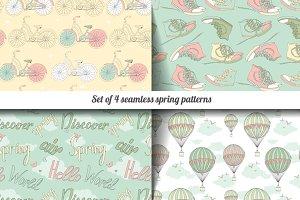 Set of 4 vintage patterns