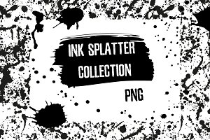 Ink splatter collection - PNG