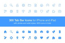 300 Tab Bar Icons
