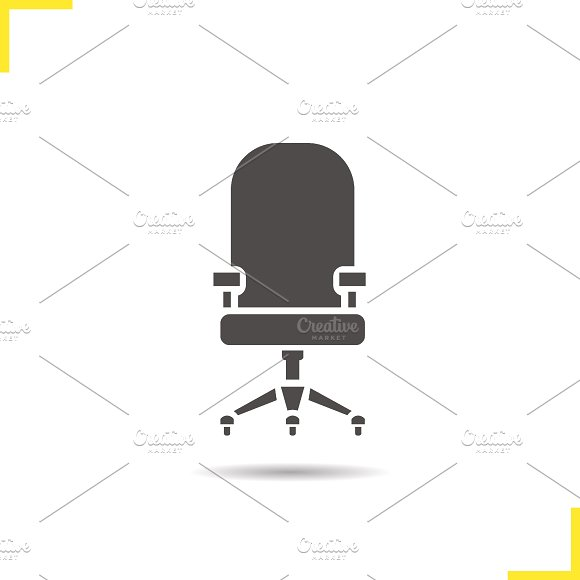 Computer chair icon. Vector - Icons