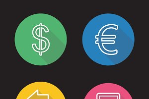 Currency exchange icons. Vector