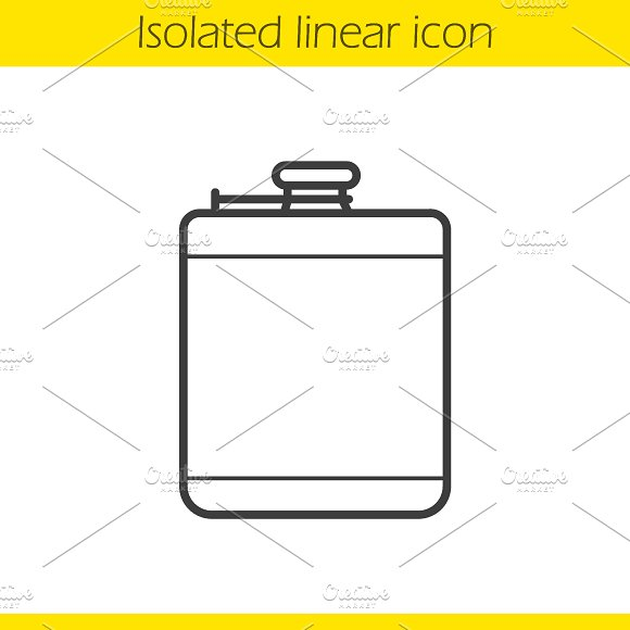 Hip flask icon. Vector - Icons