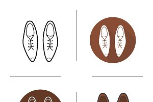 Men's shoes icons. Vector