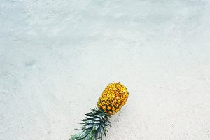 Pineapple at Beach in Mexico 8