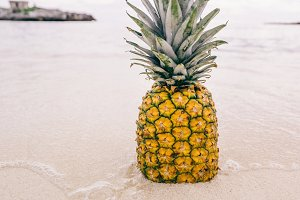 Pineapple at Beach in Mexico 7
