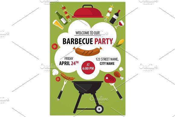 barbecue party invitation invitation templates creative market