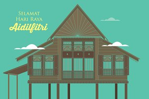 raya kampung/village vector