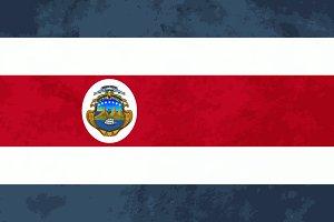 True proportions Costa Rica flag