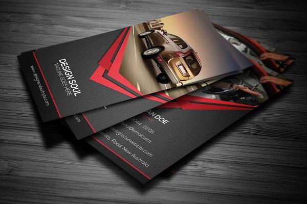rent a car business card  creative photoshop templates