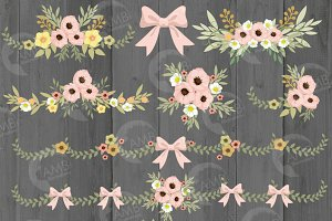 Floral Wedding Clipart, 1313