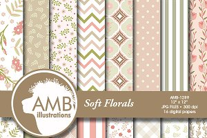 Floral Digital Papers, 1289