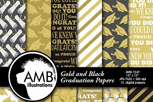 Graduation Papers in Gold AMB-1247