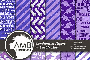 Purple Graduation Papers AMB-1246