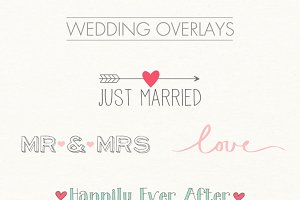 Digital word overlays - wedding