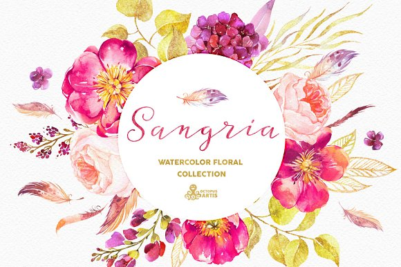 Sangria. Watercolor collection