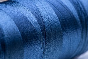Blue spool of thread