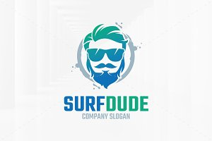 Surf Dude Logo Template