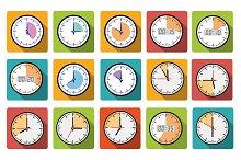 Timer clocks icons