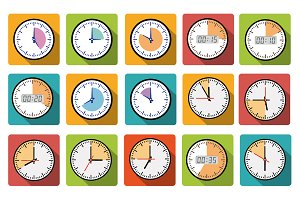 Timer clocks icons