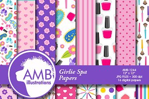 Spa Day Digital Papers, 1244
