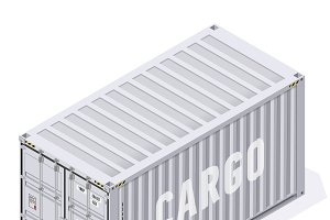 3x Cargo sea shipping container