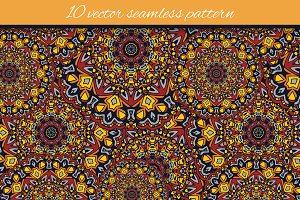 10 vector seamless pattern