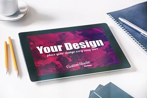 iPad tablet PSD Mockup
