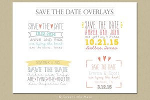 Save the Date Overlays, word overlay