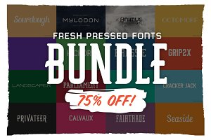 Fresh Pressed Fonts Bundle-75% OFF!
