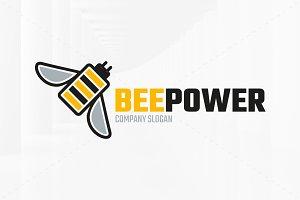 Bee Power Logo Template